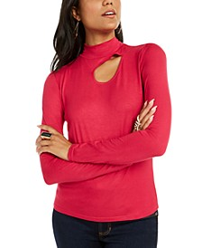 Cutout Mock-Neck Top, Created for Macy's