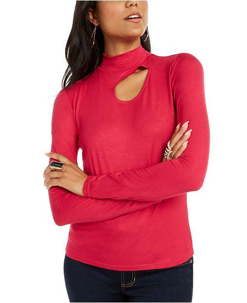 Thalia Sodi Cutout Mock-Neck Top, Created for Macy's