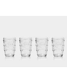 Euro Ceramica Fez Highball Glasses, Set of 4
