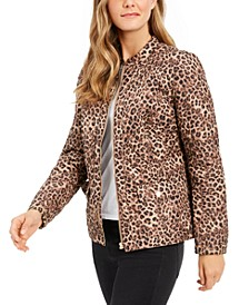 Animal-Print Jacket, Created for Macy's