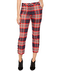 Mercury Plaid Straight-Leg Pants