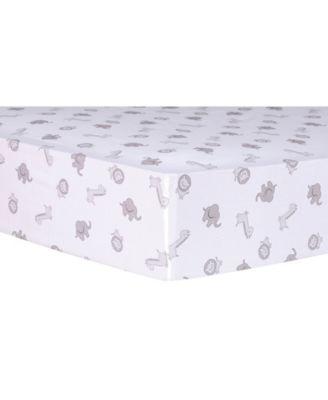 Chevron Safari Cotton Crib Sheet