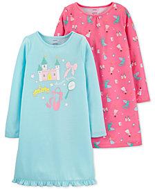 Carter's Little & Big Girls 2-Pk. Princess Nightgowns