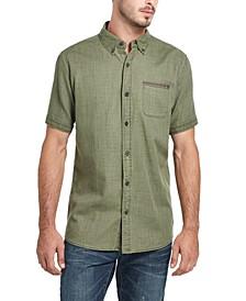 Men's Slub Woven Short Sleeve Shirt