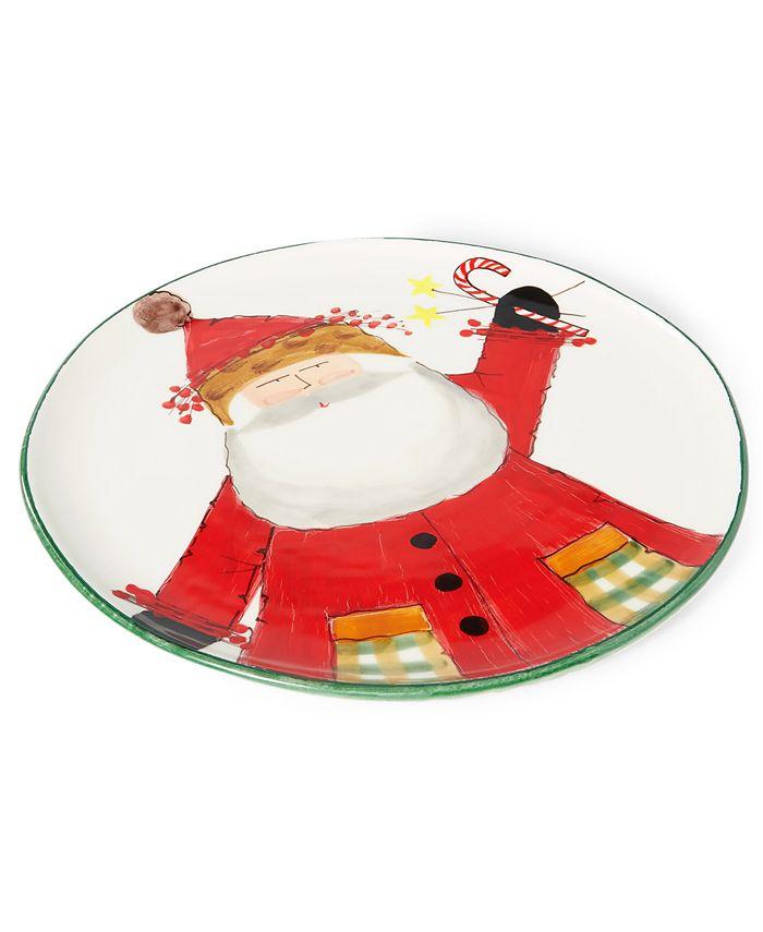 VIETRI - Old St. Nick Round Platter with Candies