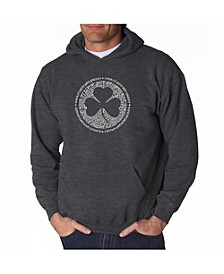 Men's Word Art Hoodie - Irish Eyes Clover
