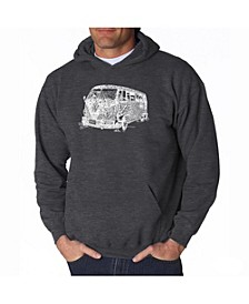Men's Word Art Hooded Sweatshirt - The 70's