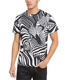 Just Cavalli Men's Zebra Print T-Shirt