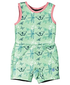 Toddler Girl's Jammer Wetsuit with Swim Diaper Dragonfly