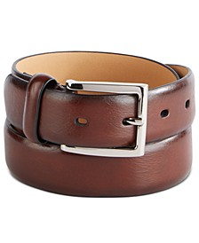 Men's Burnished-Edge Belt, Created For Macy's