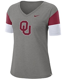 Nike Women's Oklahoma Sooners Breathe V-Neck T-Shirt