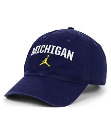 Jordan Michigan Wolverines Heritage 86 Wordmark Swoosh Strapback Cap