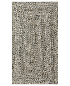 Capel Area Rug, Indoor/Outdoor Sea Glass Rectangular Braid 0110-300 Smoke Quartz 5' x 8'