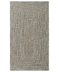 Capel Area Rug, Indoor/Outdoor Sea Glass Rectangular Braid 0110-300 Smoke Quartz 3' x 5'