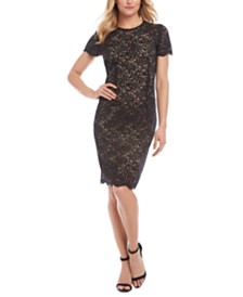 Karen Kane Crewneck Lace Sheath Dress