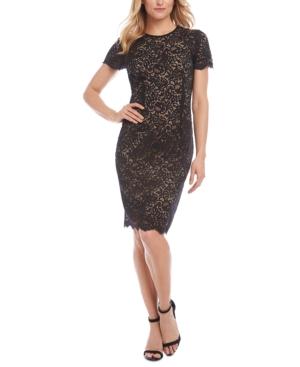 Karen Kane Dresses CREWNECK LACE SHEATH DRESS