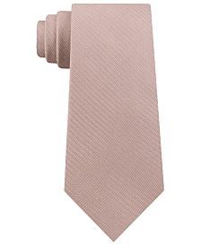 Calvin Klein Men's Slim Mini-Herringbone Silk Tie