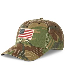 Men's Cotton Camo American Flag Cap