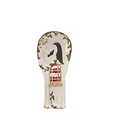 Fitz & Floyd Mistletoe Merriment Spoon Rest