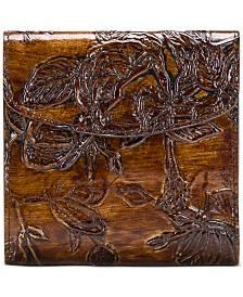 Patricia Nash Bark Leaves Rieti Leather Wallet