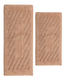 "Perthshire Platinum Collection Diagonal Racetrack 20"" x 30"" and 21"" x 34"" 2-Pc. Bath Rug Set"