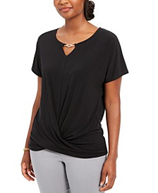 Keyhole Twist-Front Top, Created for Macy's
