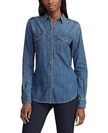 Lauren Ralph Lauren Cotton Denim Button-Down Shirt
