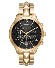 Women's Chronograph Runway Mercer Gold-Tone Stainless Steel Bracelet Watch 44mm