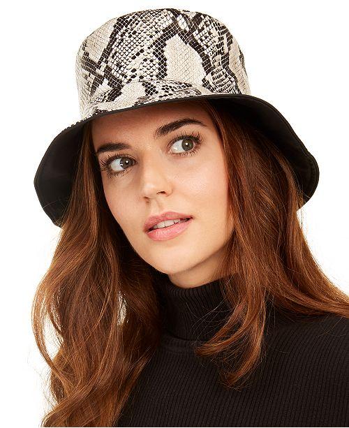 Nine West Reversible Rain Bucket Hat