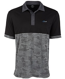 Men's Colorblocked Camo Jacquard Polo