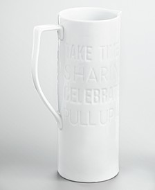 CLOSEOUT! Words Debossed Pitcher, Created for Macy's