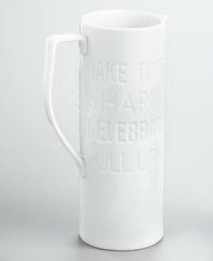Closeout! The Cellar Words Debossed Pitcher, Created for Macy's