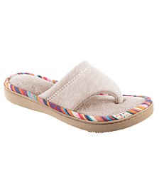 Isotoner Women's Jersey Becca Thong Slipper, Online Only