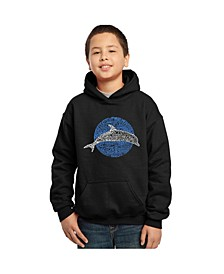 Boy's Word Art Hoodies - Species of Dolphin