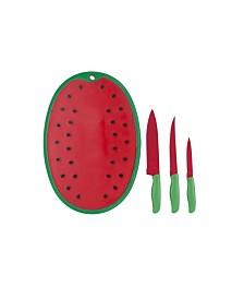 Alpine Cuisine 4-Piece Watermelon Knife and Cutting Board Set