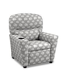 Kangaroo Trading Co. Kid's Recliner with Cupholder - Hugo Storm