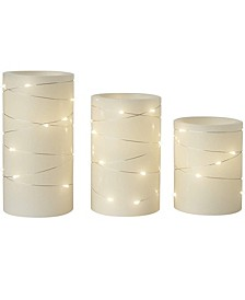 Candle Flameless LED with Timer - Set of 3