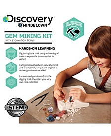 Discovery Mindblown Toy Excavation Kit Gems- STEM