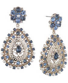 Marchesa Gold-Tone Crystal & Imitation Pearl Chandelier Earrings