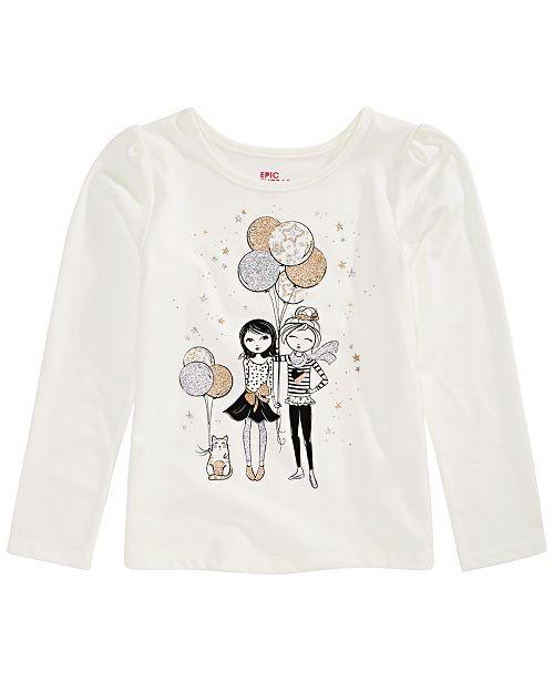 Epic Threads Toddler Girls Glitter Balloon T-Shirt, Created for Macy's