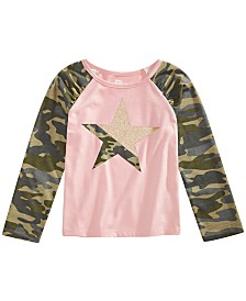 Epic Threads Little Girls Camo-Print Star T-Shirt, Created for Macy's
