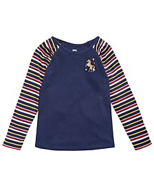 Toddler Girls Striped Unicorn T-Shirt, Created for Macy's