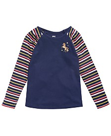 Epic Threads Little Girls Striped Unicorn T-Shirt, Created for Macy's