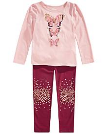 Epic Threads Little Girls Butterfly T-Shirt & Glitter Leggings, Created for Macy's