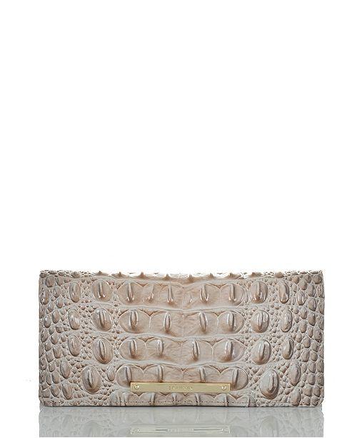 Brahmin Ady Melbourne Croc Embossed Leather Wallet