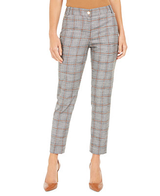 Plaid Cropped Pants by General