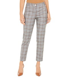 Calvin Klein Plaid Cropped Pants