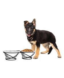 PetMaker Stainless Steel Raised Food and Water Bowls - Set of 2