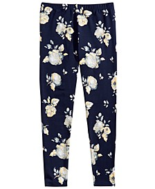 Big Girls Metallic Floral-Print Leggings
