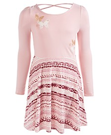 Big Girls Boho Butterfly Fit & Flare Dress, Created For Macy's